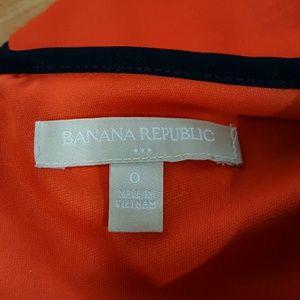 Banana Republic Factory Dresses - Banana Republic Orange and Navy Sleeveless Dress